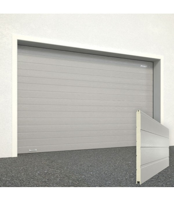 Ворота секционные гаражные RSD01SC 2750х2215 серебристые RAL-9006 купить в Белгороде