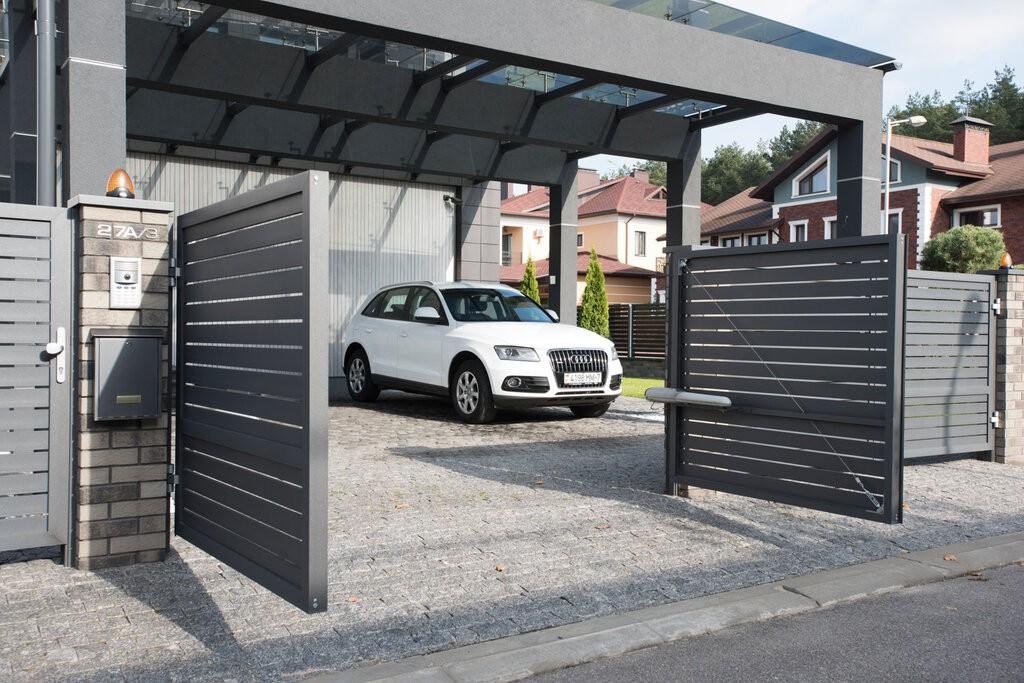 Алюминиевые распашные ворота купить в Белгороде