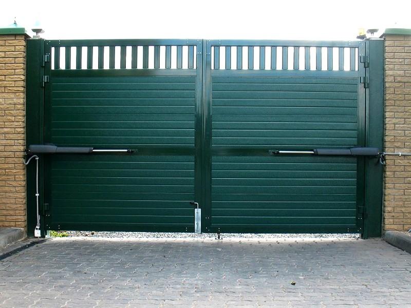 Распашные ворота с автоматикой 3500х2100 купить в Белгороде