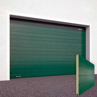 Ворота секционные гаражные RSD01SC 3000х2640 зеленые RAL-6005 купить в Белгороде