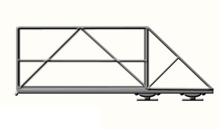 Рама для откатных ворот 3200х2000 мм под профлист купить в Белгороде