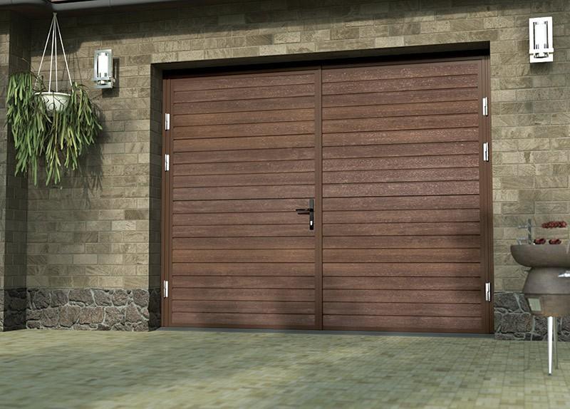 Алюминиевые распашные ворота для гаража купить в Белгороде