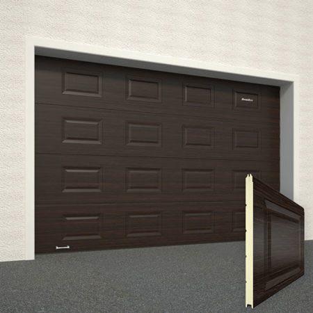 Ворота секционные гаражные RSD01SC 2500х2500 коричневые RAL-8017 купить в Белгороде