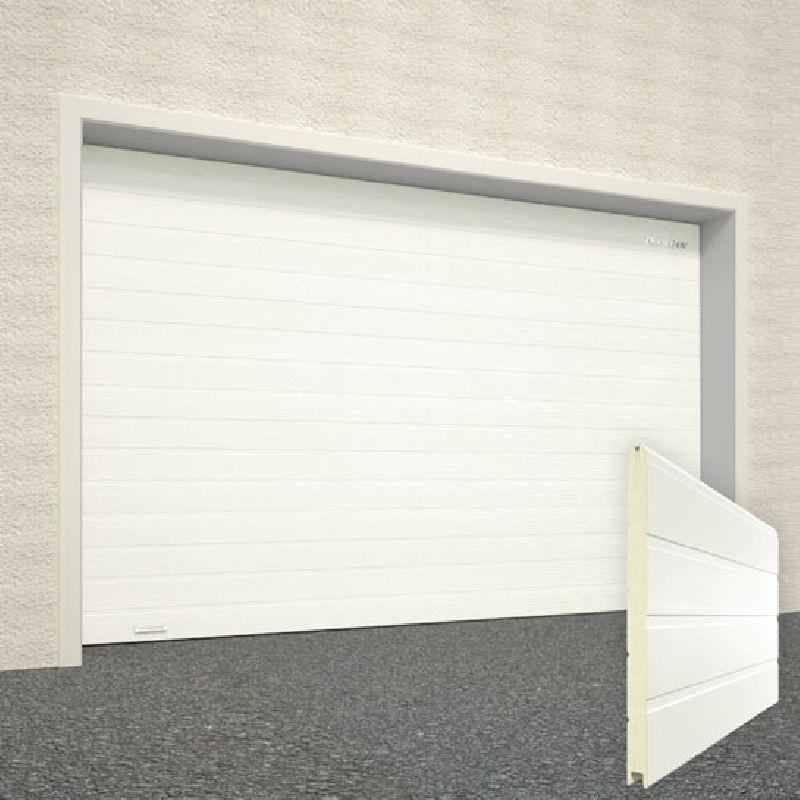 Ворота секционные гаражные RSD01SC 2500х2215 белые RAL-9003 купить в Белгороде