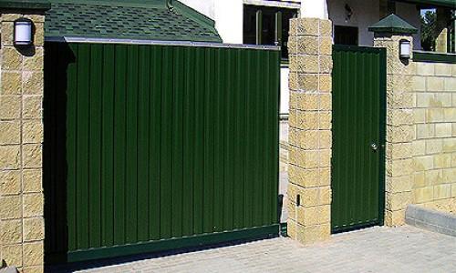 Откатные ворота 3000х1900 мм с заполнением профлистом купить в Белгороде